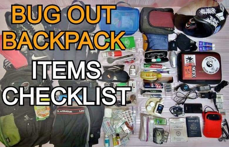 Bug out backpack checklist