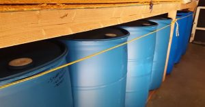 storing water barrel